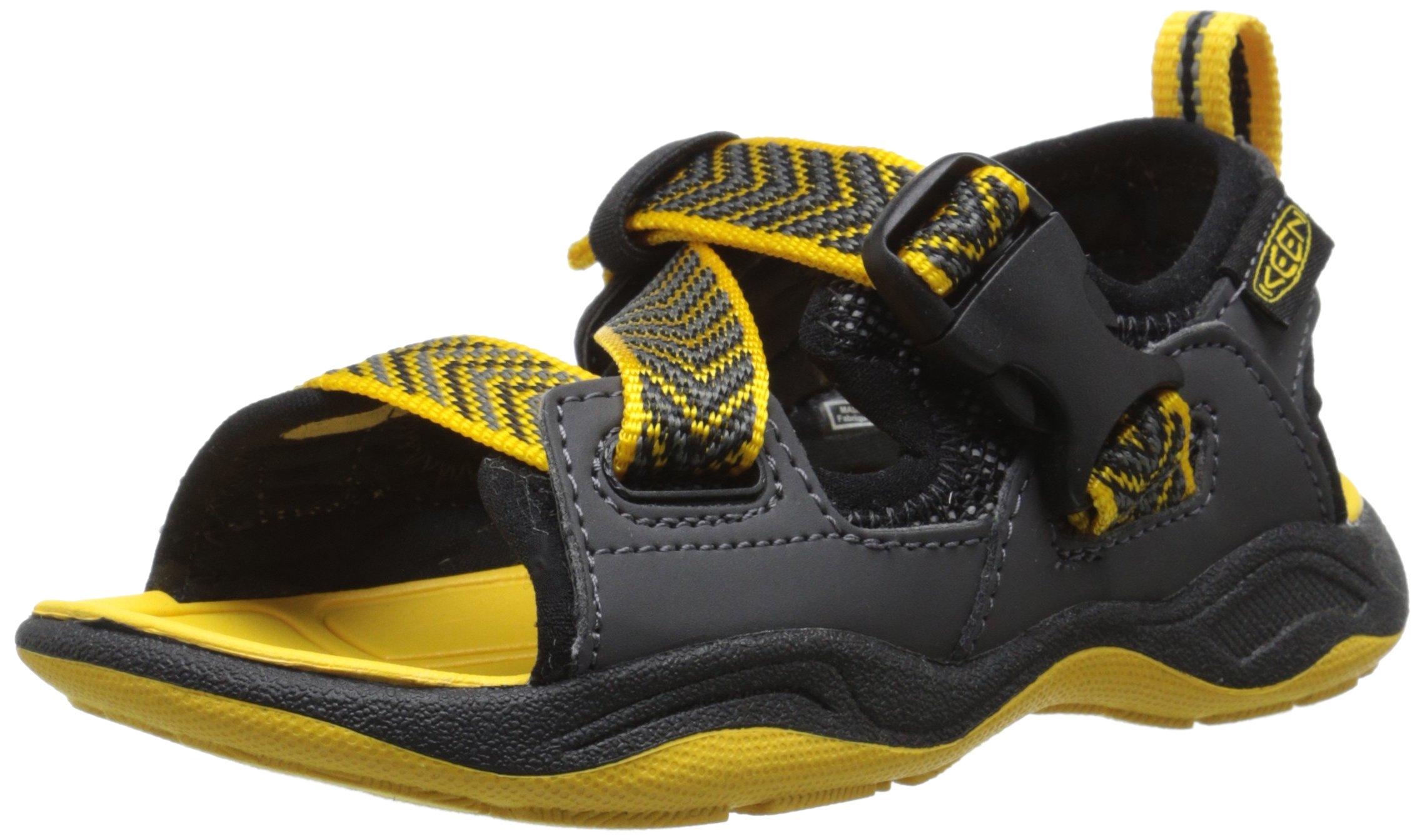 KEEN Rock Iguana Sandal (Toddler/Little Kid), Black/Yellow, 8 M US Toddler