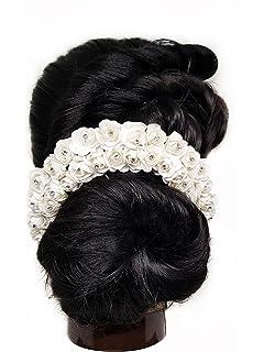 Buy Keshshringar Hair Gajra In Artificial Mogra Flower White