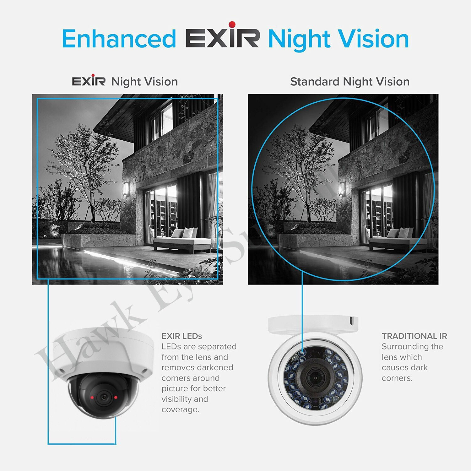 4MP PoE Security IP Camera - Dome,Indoor and Outdoor,Weather Proof,EXIR Night Vision, Wide Angle 2.8mm Lens,Best for Home and Business Security, Compatible as Hikvision DS-2CD2142FWD-I,3 Year warranty
