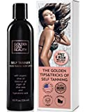 Self Tanner - Sunless Tanning Lotion w/Hyaluronic Acid & Organic Oils Gradual Body Bronzer for Light, Medium or Dark Tan 8.0 fl.oz