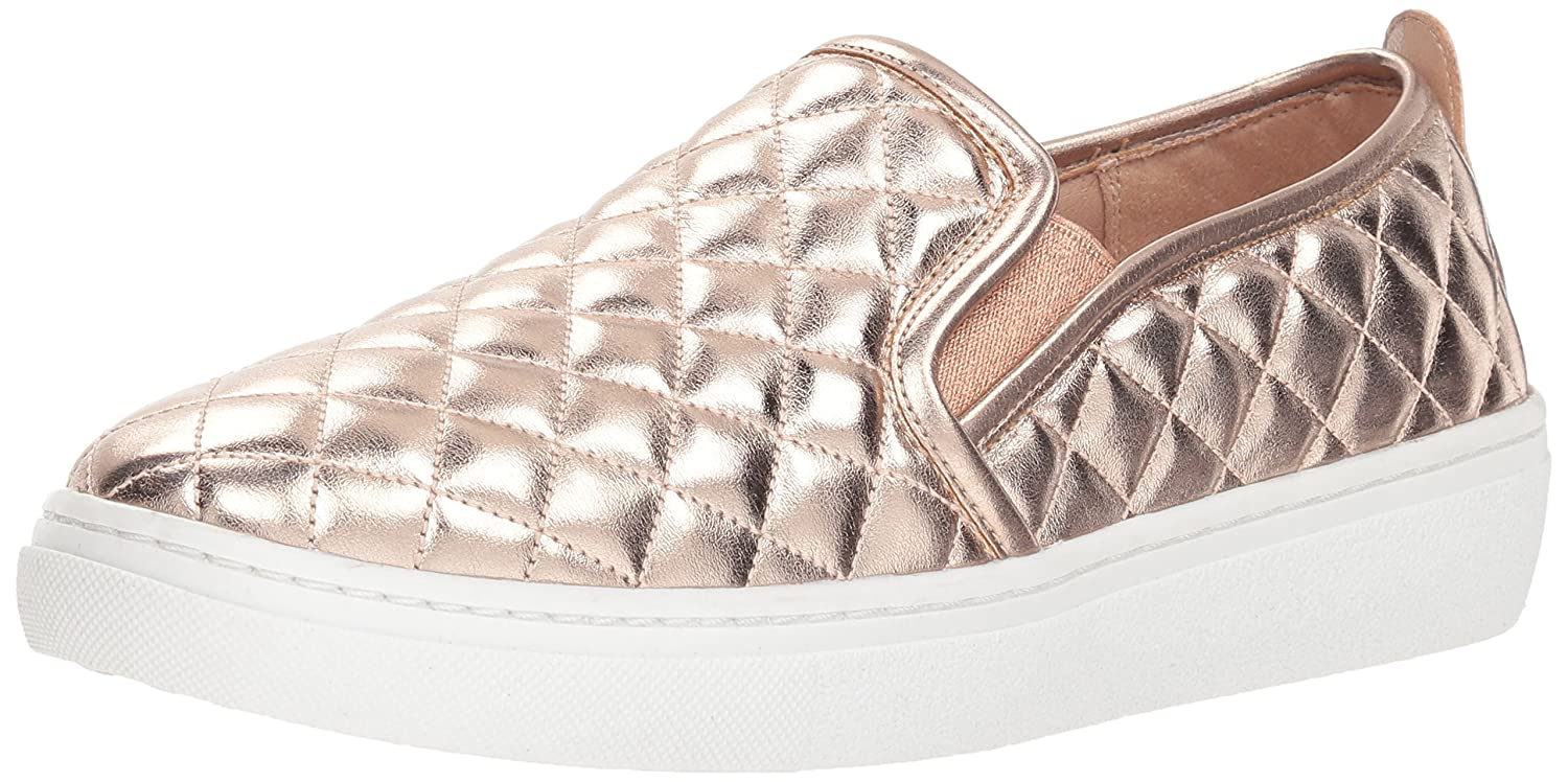 Skechers Women's Goldie-Metallic Quilted Sneaker B0781YYMRM 6 B(M) US|Rose Gold