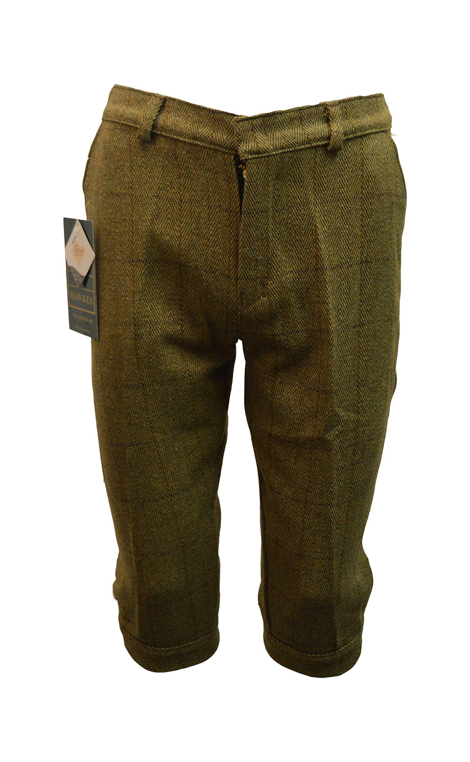 Walker and Hawkes Big Boys' Derby Tweed Breeks Shooting Plus Fours Trousers 26 Light Sage