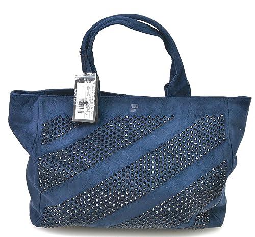cba075fd2c4f0 PINKO WOMAN BIG SHOULDER BAG ECO SUEDE BLUE CODE 1P200V Z1BP UNICA - ONE  SIZE BLU