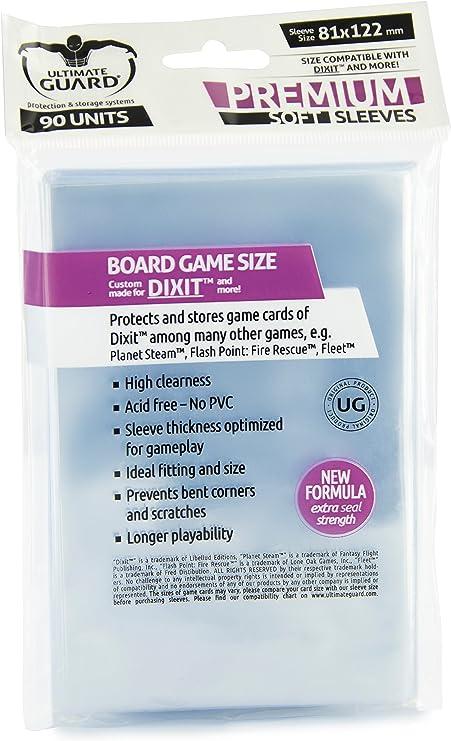 Ultimate Guard Dixit Premium Soft Sleeves - Funda para tarjetas de juego de mesa, 81 x 122 mm (10284): Amazon.es: Juguetes y juegos