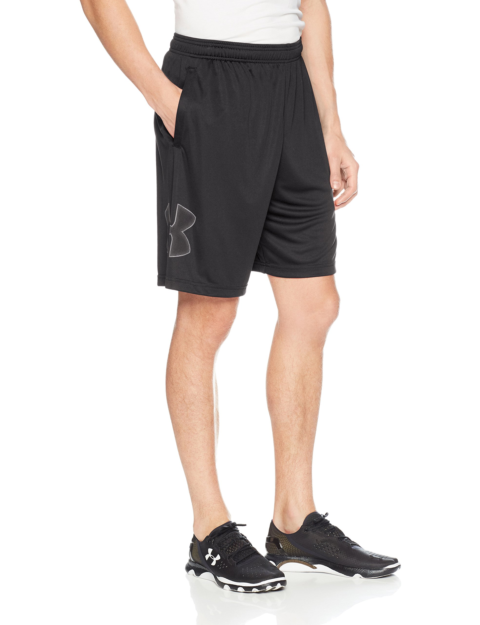 Under Armour Men's Tech Graphic Shorts, Black (001)/Graphite, Large by Under Armour