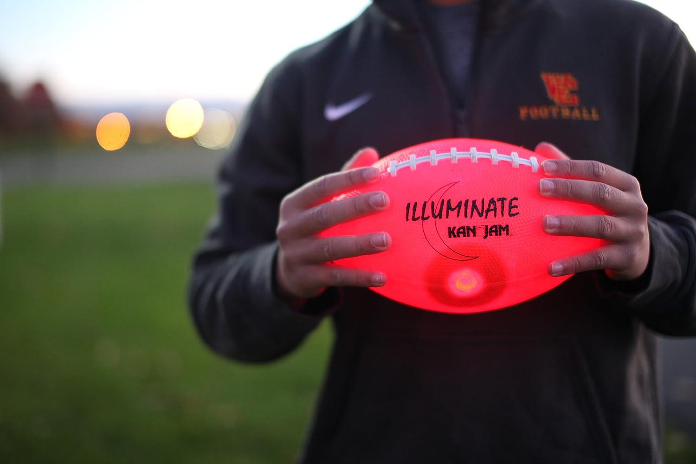 Kan Jam Illuminate Ultra-Bright LED Light-Up Glow Football Full Size and Weight