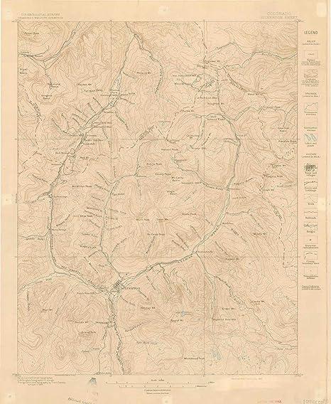 Amazon Com Yellowmaps Silverton Co Topo Map 1 62500 Scale 15 X 15