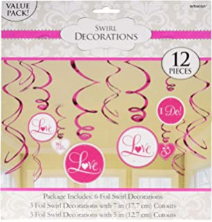 value pack foil swirl decorations bright pink wedding and engagement party