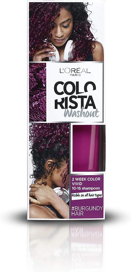 LOréal Paris Colorista Burgundy Washout 1-2 Weken Haarkleuring coloración del cabello Borgoña 80 ml - Coloración del cabello (Borgoña, Burgundy, 80 ...
