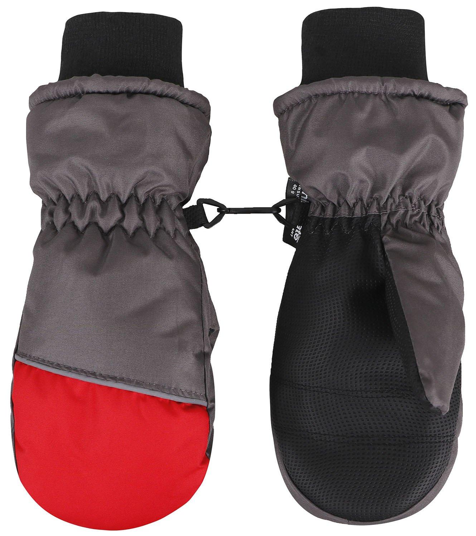 Jasmine Girls Ski Mittens Winter Windproof/Waterproof Snow Mittens Gloves,S