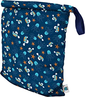 product image for Planet Wise Roll Down Wet Diaper Bag - Medium - Navy Sea Friends