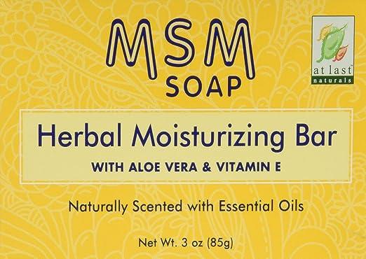 Amazon com : At Last Naturals MSM Herbal Moisturizing Bar 3