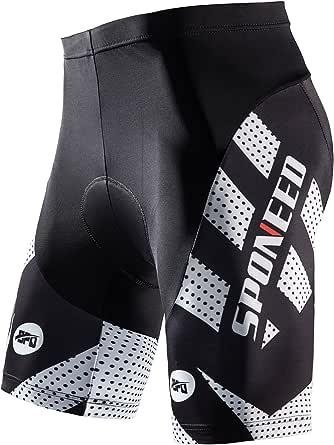 sponeed Men's Cycling Shorts Padded Bicycle Riding Pants Bike Biking Clothes Cycle Wear Tights