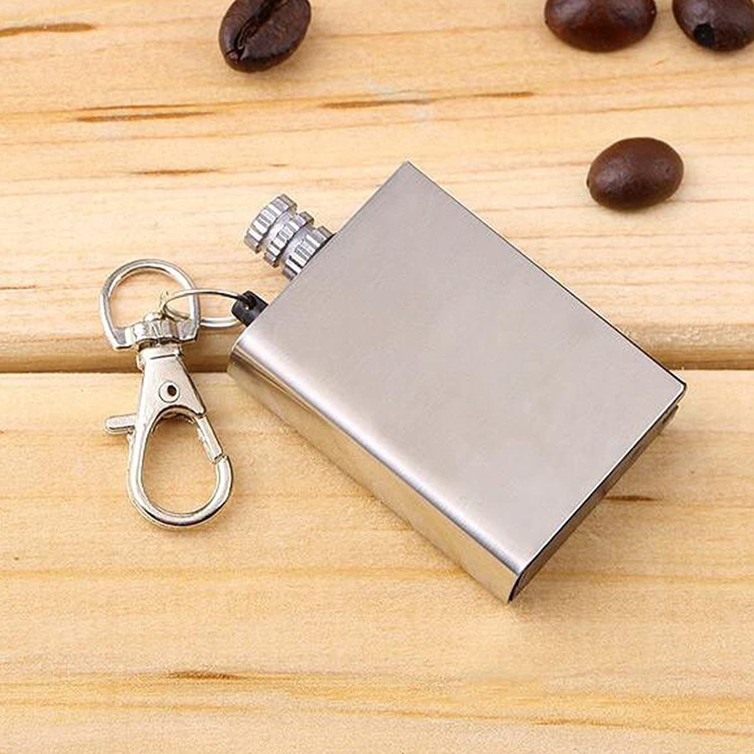 Ferro Rod Flint Match K EXCLUSIVE Waterproof Permanent Match Survival Lighter Keychain Thousands of Strikes Stainless Steel Case