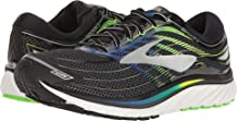 Brooks Men's Glycerin 15 Black/Electric Blue/Green Gecko 10.5 D US