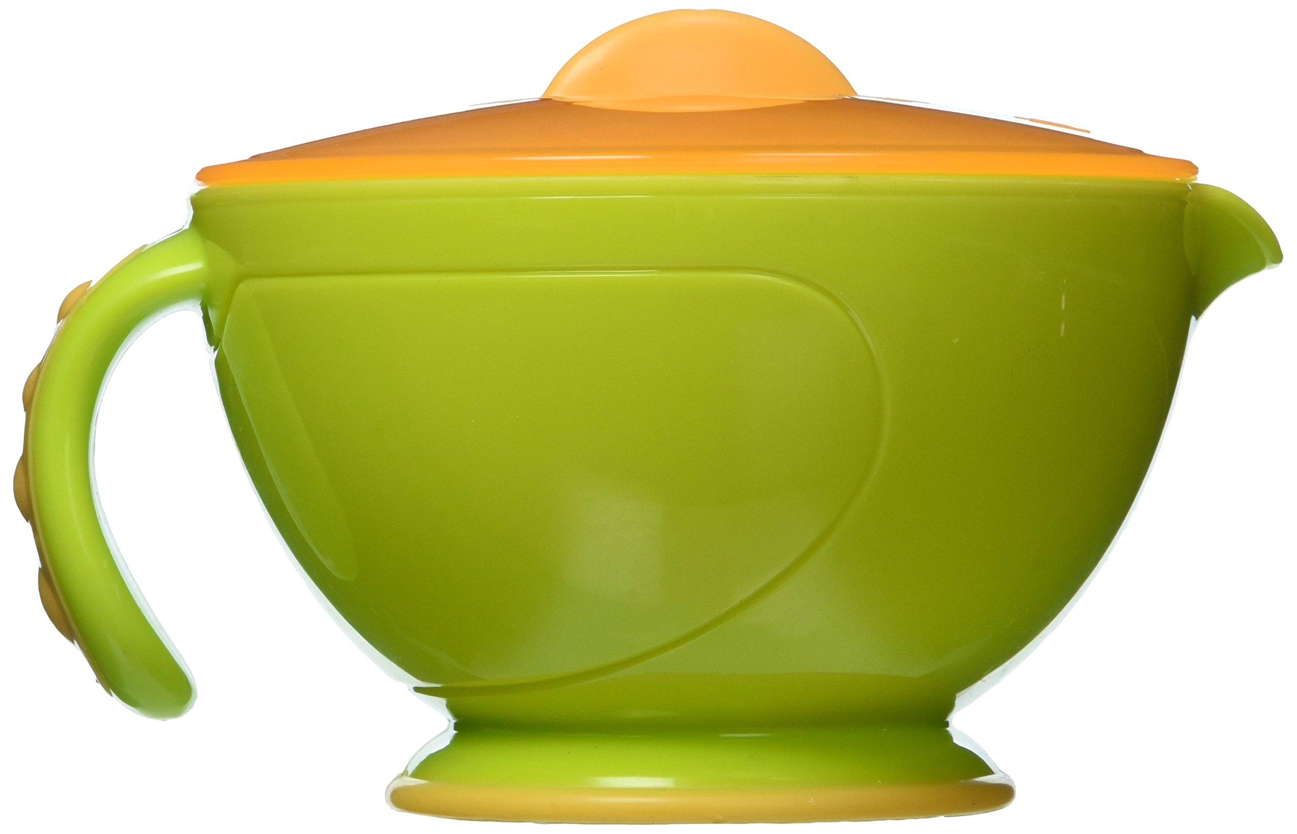 Nuby Garden Fresh Steam 'N' Mash Baby Food Prep Bowl and Food Masher Green/Orange