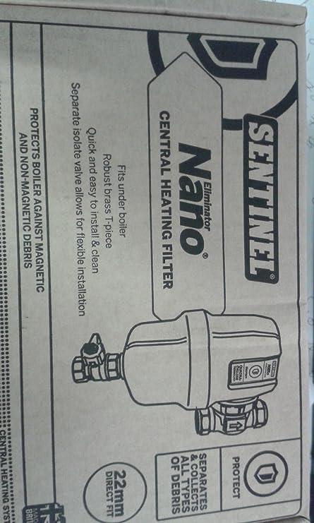 Sentinel Nano Eliminator Central Heating Filter 22mm Direct fit ...