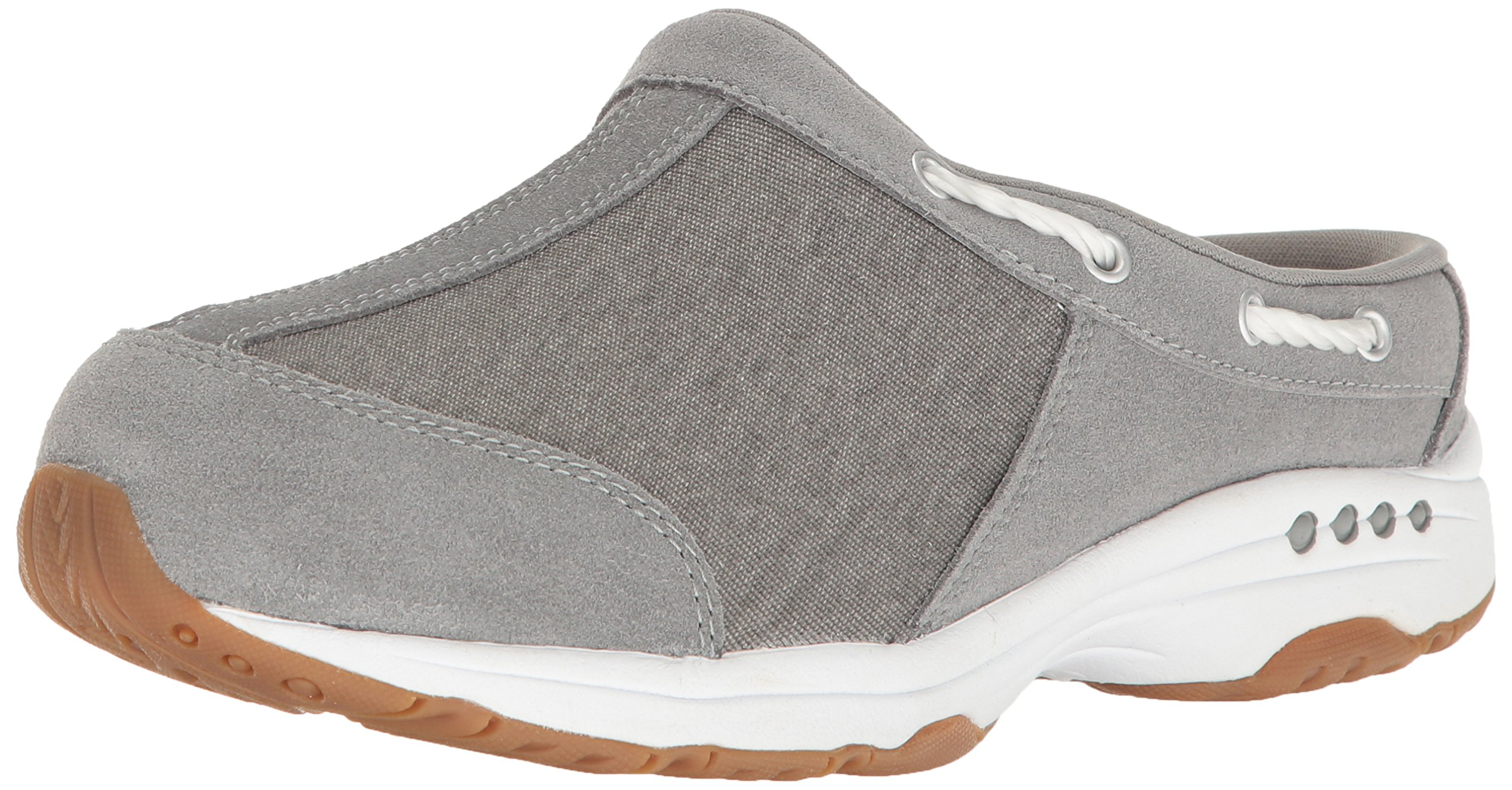 Easy Spirit Women's Travelport Mule, Grey/Grey Suede, 10 M US