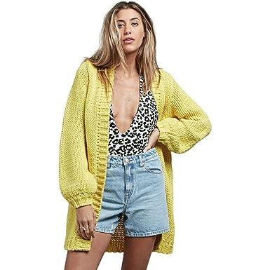 Amazon.com: Volcom knitastic Oversized Chunky chaqueta de ...