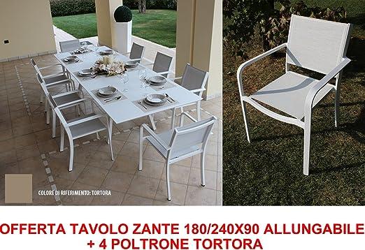 Oferta mesa Zante 180/240 x 90 extensible + 4 sillones Pardo Muebles Jardín: Amazon.es: Jardín