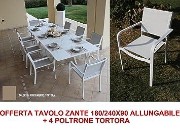 Oferta mesa Zante 180/240 x 90 extensible + 4 sillones Pardo ...