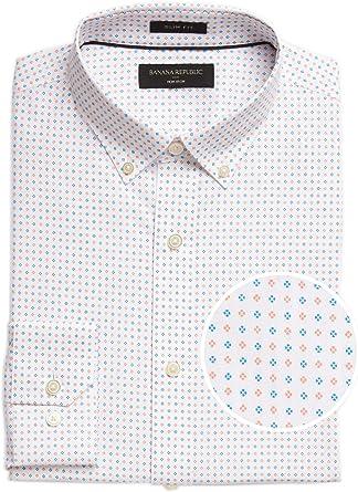 Banana Republic - Camisa para hombre (100% algodón, ajustada ...