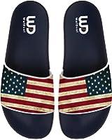 American Flag Men's Fashion Comfortable Flip Flop Big Screen Slip On Slide Sandal