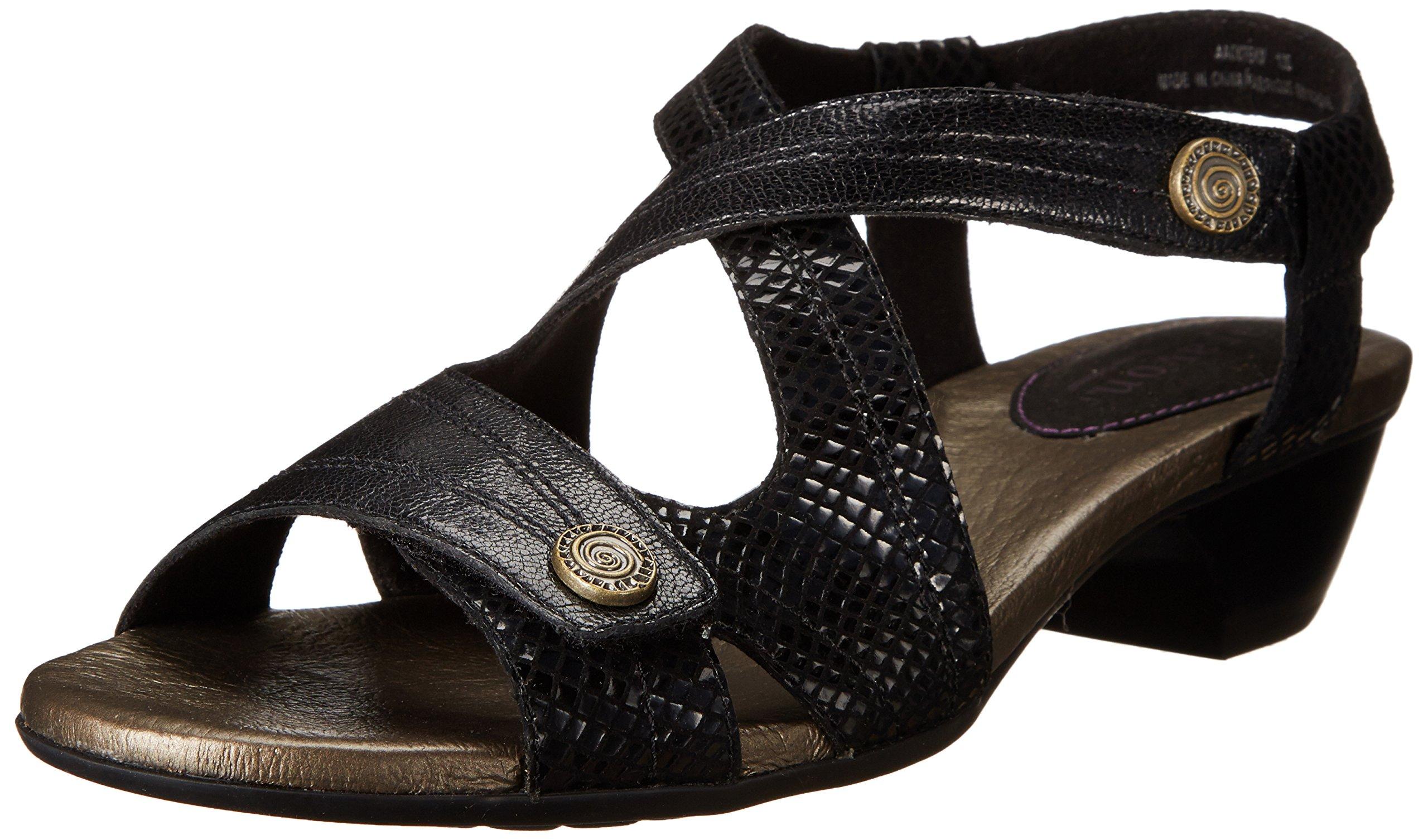 Aravon Women's Sonia Black Multi Sandal 8 M (B)