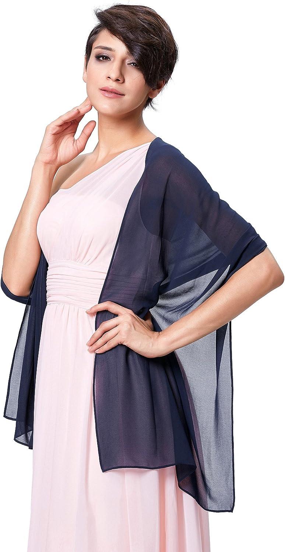 18 Tinta Unita Molte Scelte di Colore Kate Kasin Scialle Donna Elegante Sciarpa Chiffon per Cerimonie Serali Matrimonio 72