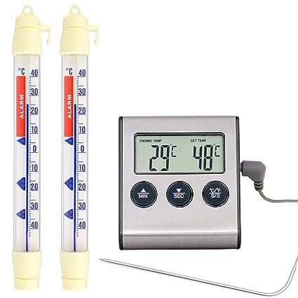 Lantelme 7244 Alimentos refrigeración y Asar Temperatura überwachungsthermometer Juego con Frigorífico y termómetro de Cocina