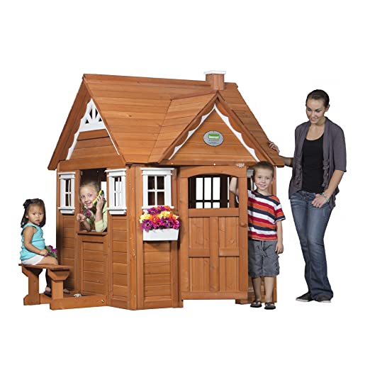 Beau Amazon.com: Backyard Discovery My Cedar Playhouse All Cedar Wood Playhouse:  Toys U0026 Games