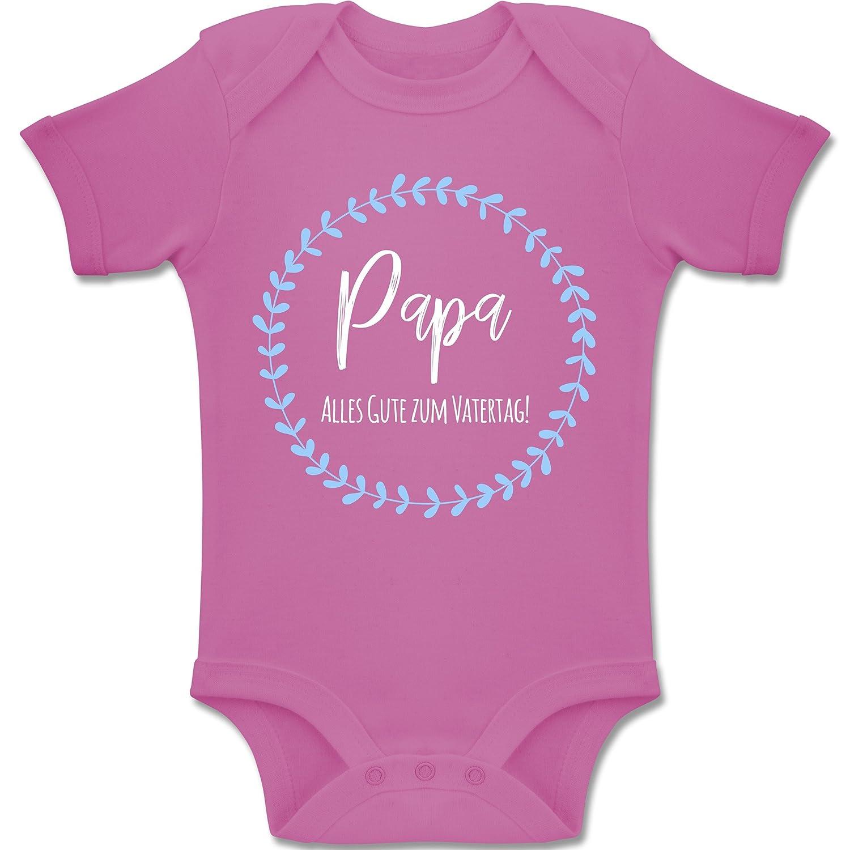 Shirtracer Vatertag Baby Baby Body Langarm Papa Alles Guten zum 1sten Vatertag Fuchsia
