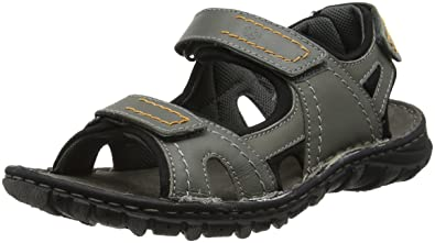 e2f695e58 Josef Seibel Mens Open Toe Sandals Grey Size  6.5 UK