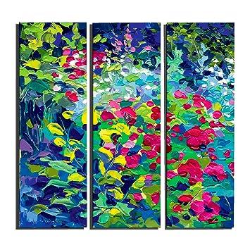 Agreable FOTEE Peinture à Lu0027huile Pour Chambre à Coucher Moderne, 3 Pièces Fleur 100