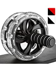 Proworks Ab Roller Exercise Wheel | Dual Abdominal Workout Machine with Knee Mat for Bodybuilding and Fitness