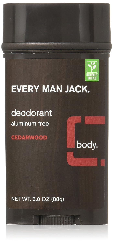 Every Man Jack Deodorant 3oz Cedarwood Aluminum Free (3 Pack)