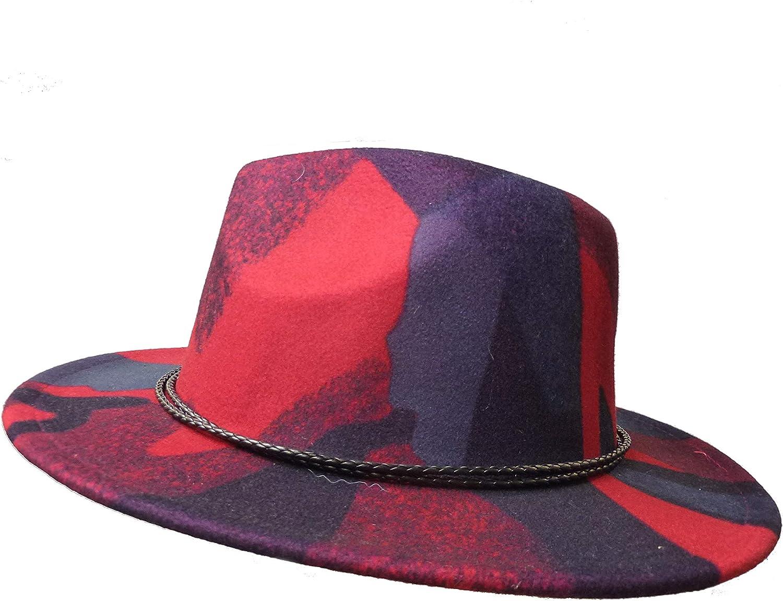 Bay Sapkaci European Made, Unisex, Patterned Pink, Navy Panama Hat