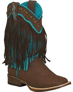 1aaa37553 Blazin Roxx Girls  Candace Zipper Fringe Boot Square Toe