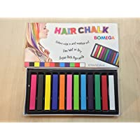 KABEER ART Hair Chalk Temporary Hair Color (12 Assorted Colors)