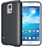 TUDIA LITE TPU Schutzhülle Samsung Galaxy S5 (ONLY Compatible with Samsung Galaxy S 5 Wireless Charging Battery Cover) Ultra Slim Hülle (Schwarz)