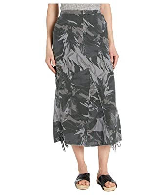 XCVI Falda de Camuflaje para Mujer en Lino solsticio - Verde - X ...