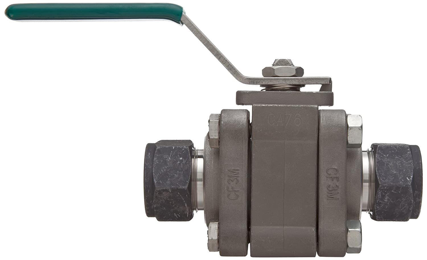 Parker SWB Series Stainless Steel Ball Valve 1 CPI Compression Fitting 1 CPI Compression Fitting Parker Hannifin 16Z-SWB16L-RT-T-SS Inline