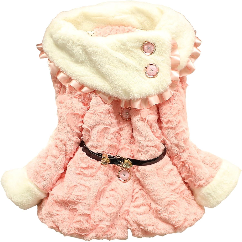 Baby Girls Toddlers Faux Fleece Coat Kids Winter Warm Jacket Snowsuit Clothing