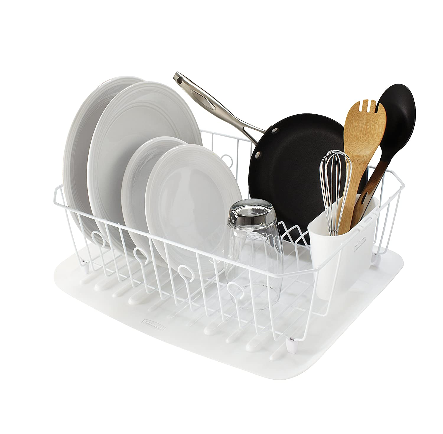 rubbermaid antimicrobial in sink dish drainer with