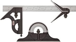 "product image for Starrett C435-12-4R Combination Set, Cast Iron Heads, Satin Chrome Blade, 12"", 4R Grad,"