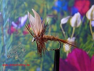 Trockenfliegen ' March Brown Dun ' 3er Set, Hakengröße 18