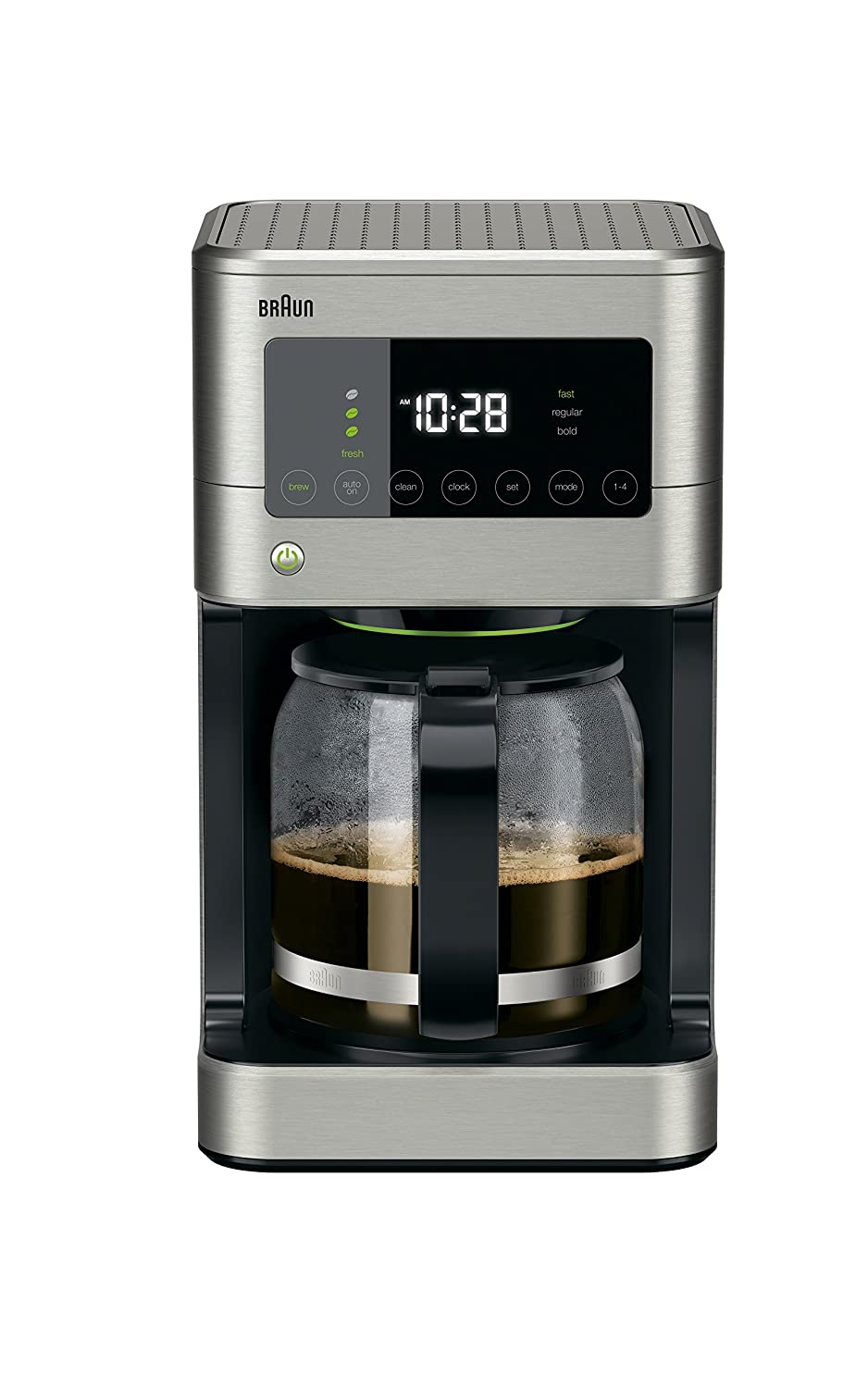 Braun KF7370SI Braun BrewSense Touch Screen Coffee Maker KF7370SI, 12 Cup, Stainless Steel