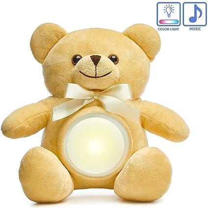 Amazon.com: Oso de peluche con luz nocturna para bebé, con ...