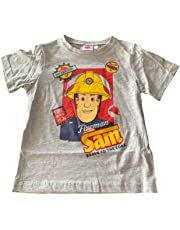 Fireman Sam Boys Kids 100% Cotton Short Sleeve T-Shirt Top