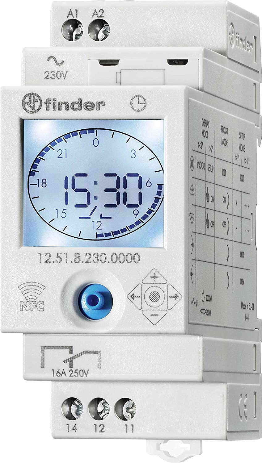 Finder 12.81.8.230.0000 Interruptor Horario Astronómico Programable NFC